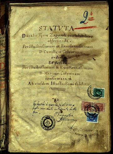 Statuta ducalis terrae Zagaroli